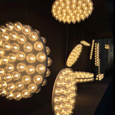 Personalized Modern Lamps white glassPendant LED Lights/Chandelier LED bulbs (20206)