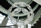 Two Level Mental Crystal Chandelier Hotel Hall Modern Pendant Light