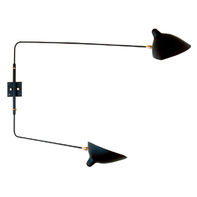 E27 Contemporart Simple Iron Black Wall Lamp for Home Decoration and Hotel Project