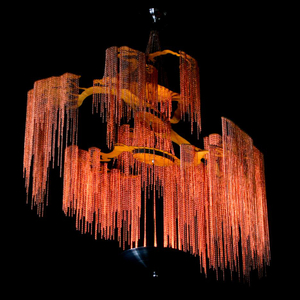 Tree Shape Metal Handmade LED Hanging Chandelier for Indoor Decoration