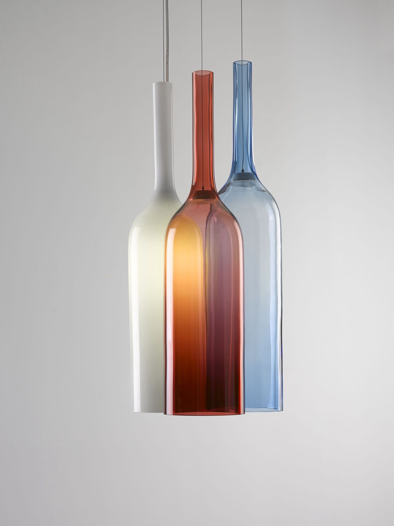 Contemporary Hanging Lighting Hand Blown Color Glass Beer Bottle Pendant Lamp For Bar From China Manufacturer Lonwing Lighting Factory Co Ltd