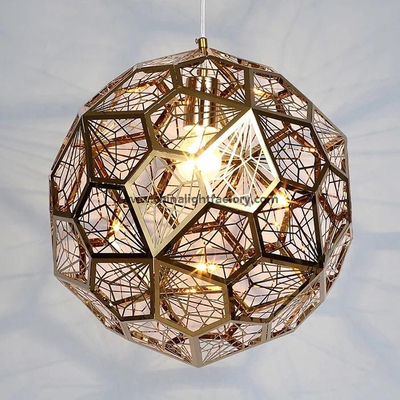 Tom Dixon Etch Web light LED Stainless Steel Pendant Lamp (4021101)