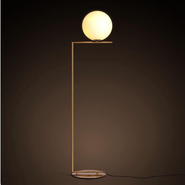 Fancy High Quality Glass Ball Modern Floor Lamp Hotel Floor