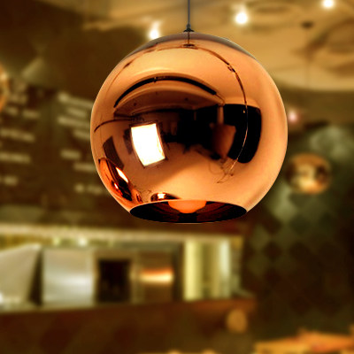 Tom Dixon Copper Shade Pendant Light Mirror Ball Glass Pendant Lamp (4026101)