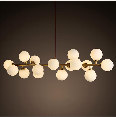Interior Large Villa Pendant Lighting LED Moden Decor Glass Chandelier