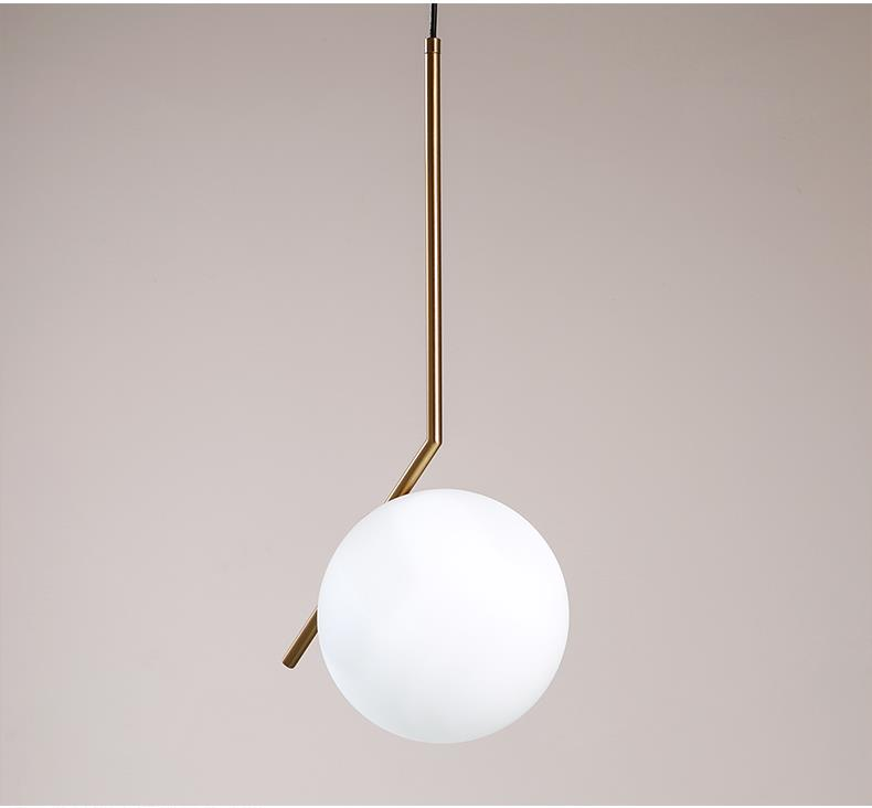 Artemide pendant lamp Nordic Milk White Glass Ball Pendant Light (3030101)
