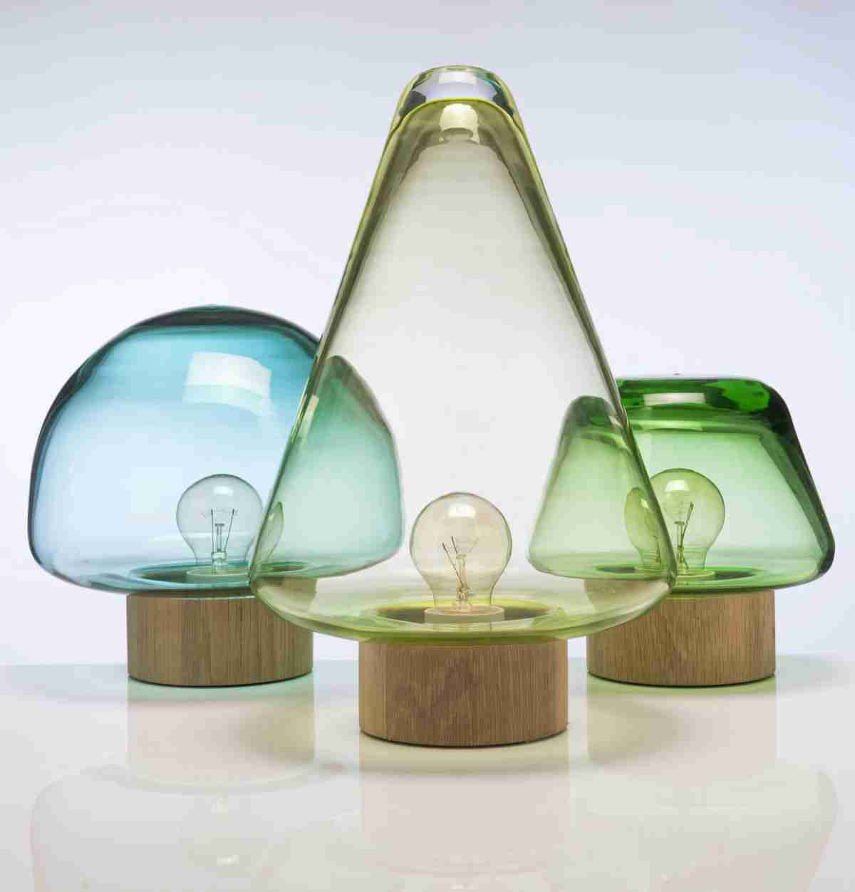 Glass Lamp Shade with Elegant Writing Table Lamp