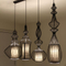 Iron Cage Pendant Light ABCD Large Chandelier (7081101)