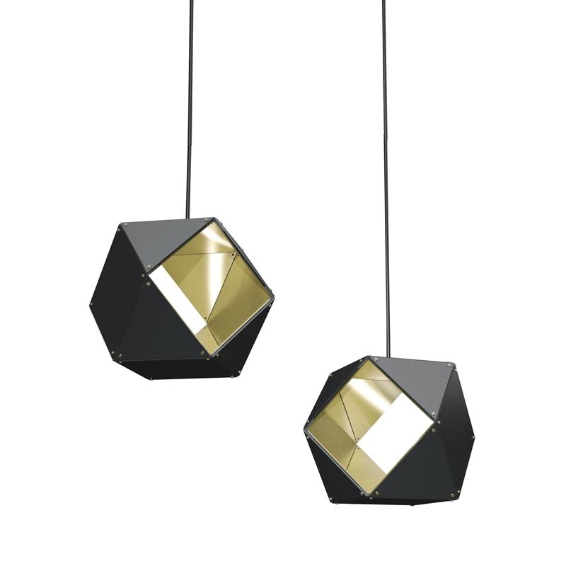 Modern Decorative Polygon Alumnium Single Pendant Lighting