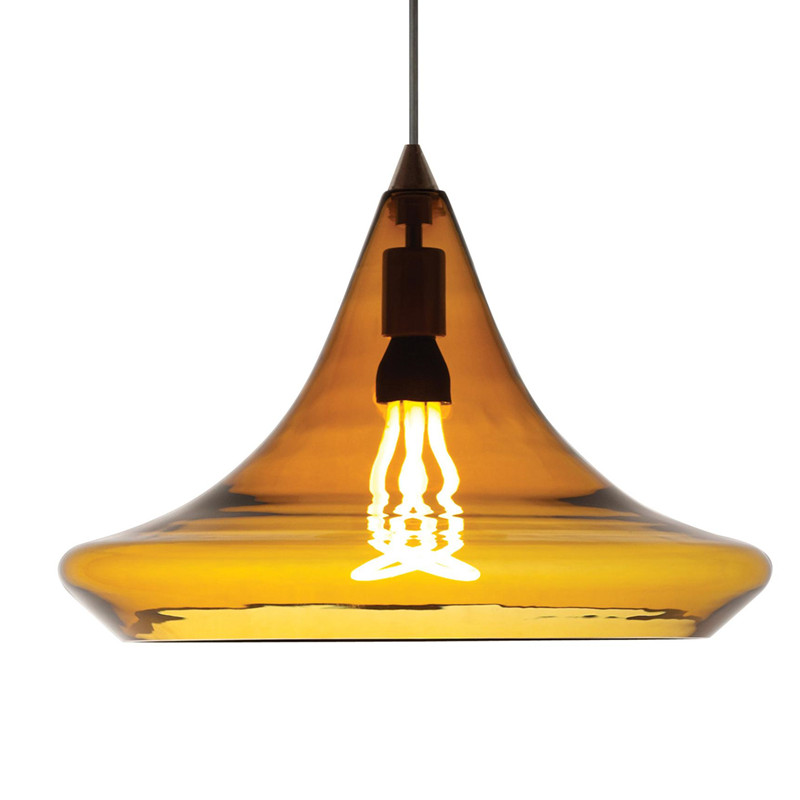 1*E27 with Metal+Glass Hanging Light Colorful Pendant Lamp